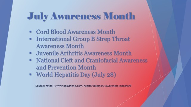 JULY AWARENESS MONTH 1
